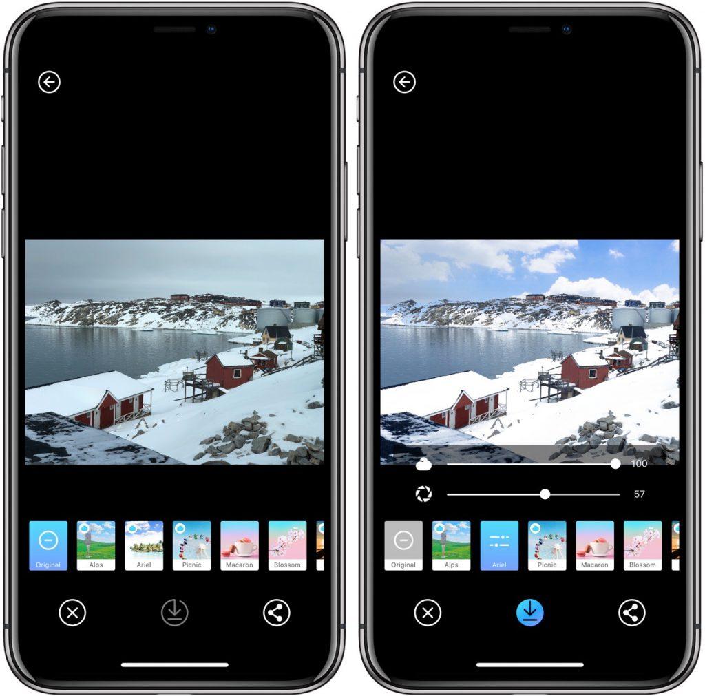 Picnic: pour changer la météo de vos photos sur iPhone, iPad 3