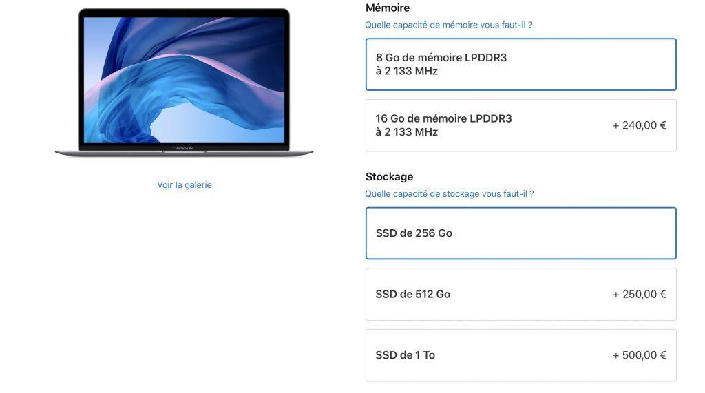 Apple baisse le prix du SSD en option sur tous ses ordinateurs 1