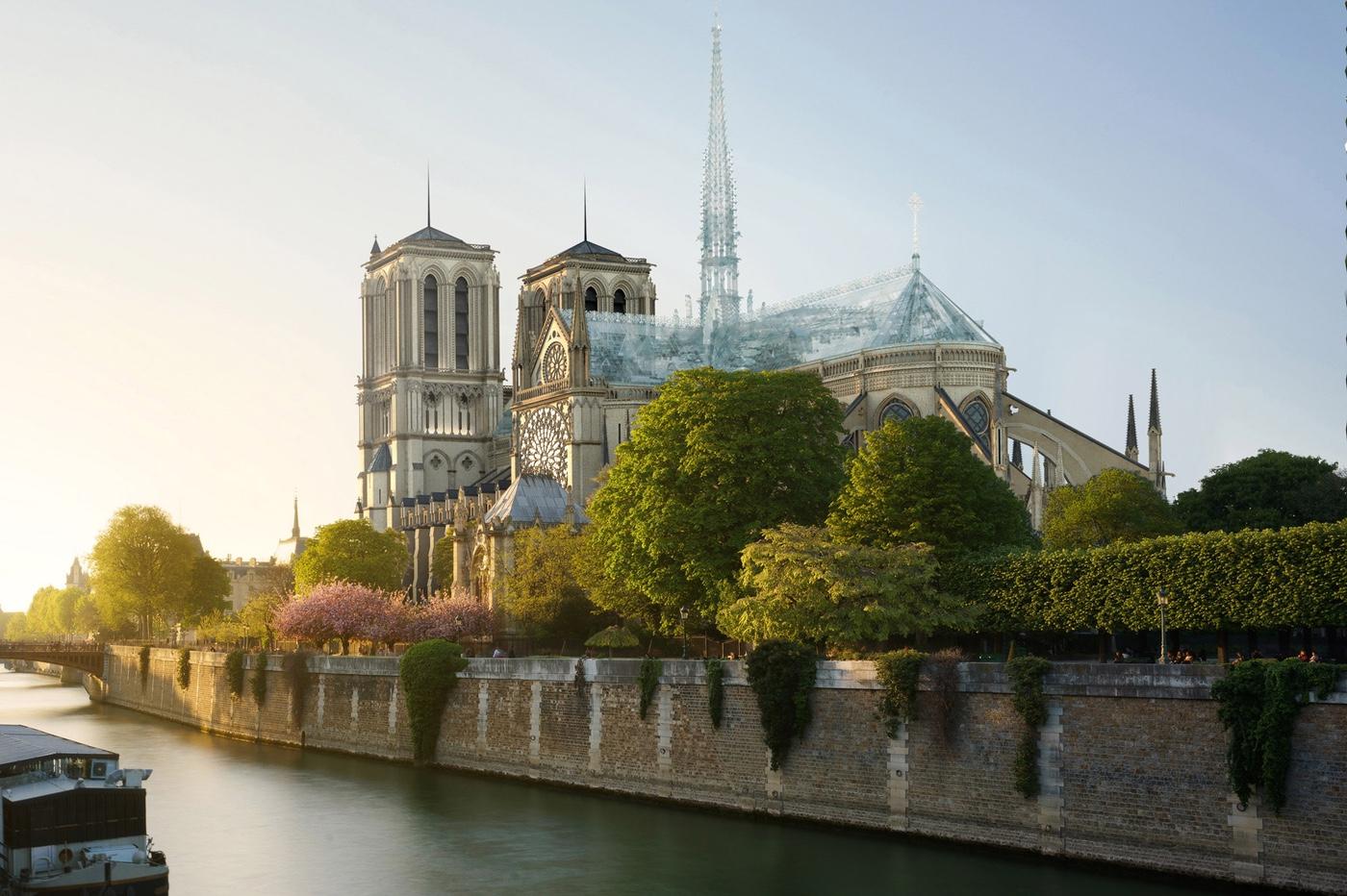 Notre-Dame de Paris pourrait être reconstruite façon Apple Store 1