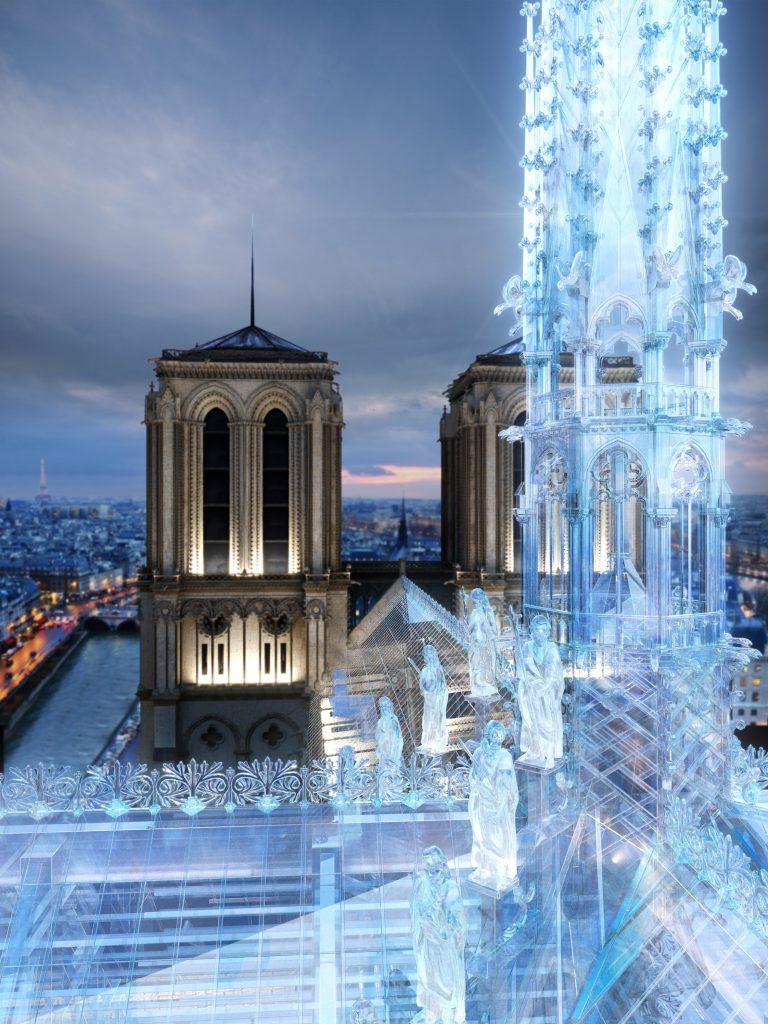 Notre-Dame de Paris pourrait être reconstruite façon Apple Store 3