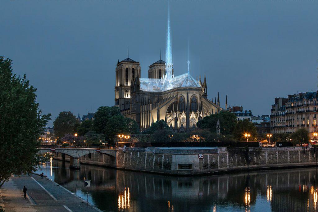 Notre-Dame de Paris pourrait être reconstruite façon Apple Store 2