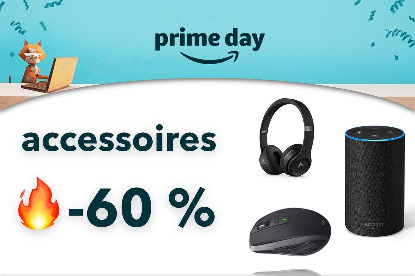 Amazon Prime Day : jusqu'à -63 % sur ces accessoires Apple, Logitech, Echo, Beats, etc. 1