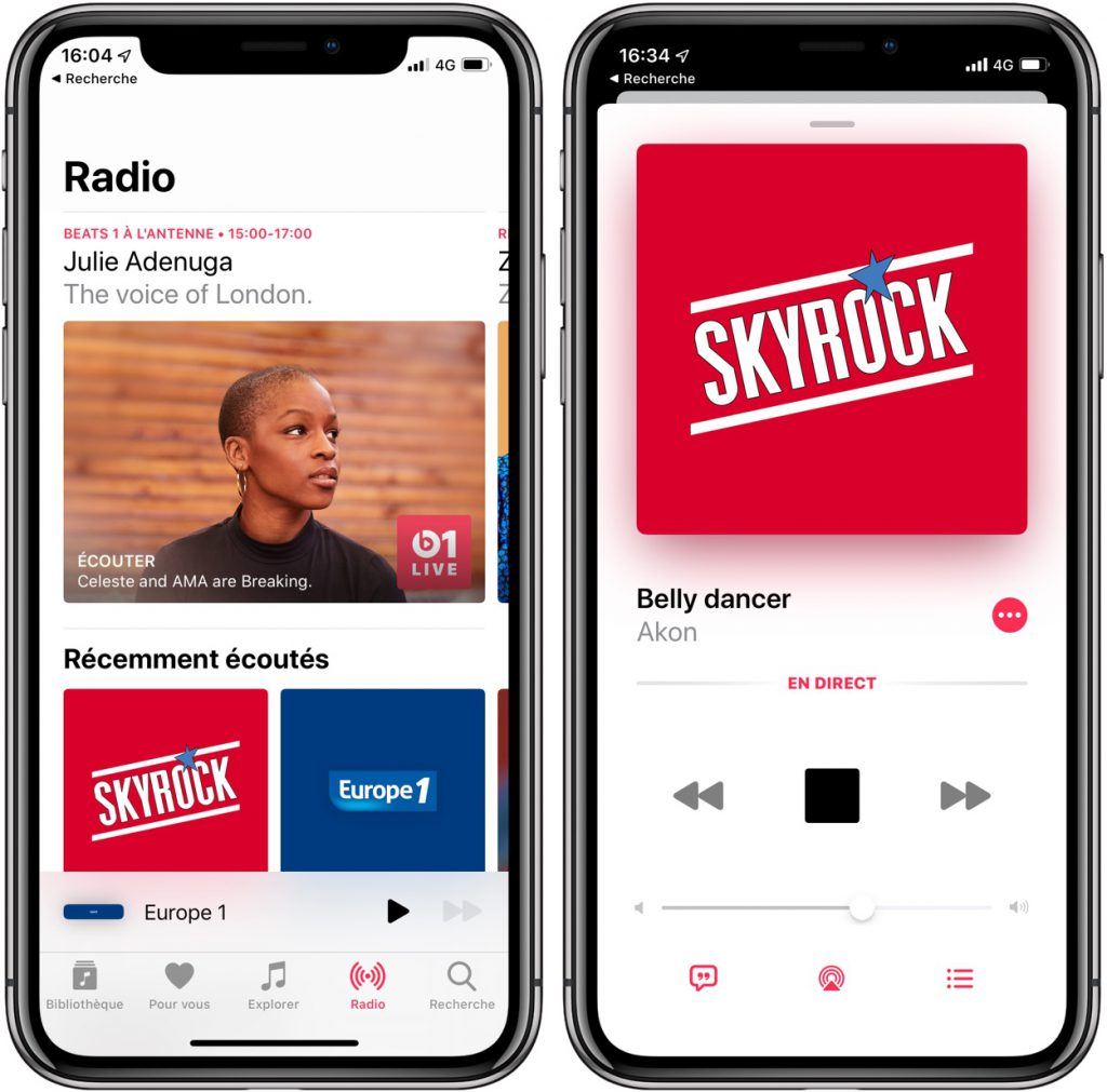 Les stations de radio débarquent sur iPhone, iPad et HomePod 3