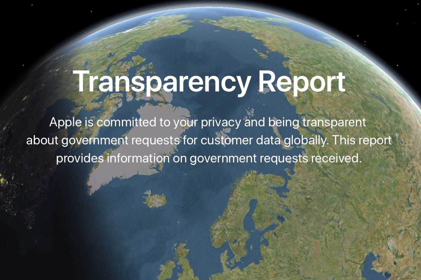 Le rapport semi-annuel d'Apple sur les demandes gouvernementales en France 1