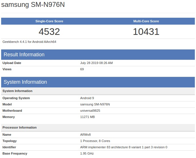 Le Samsung Note 10 même pas sorti, déjà dépassé par l'iPhone XS Max 7