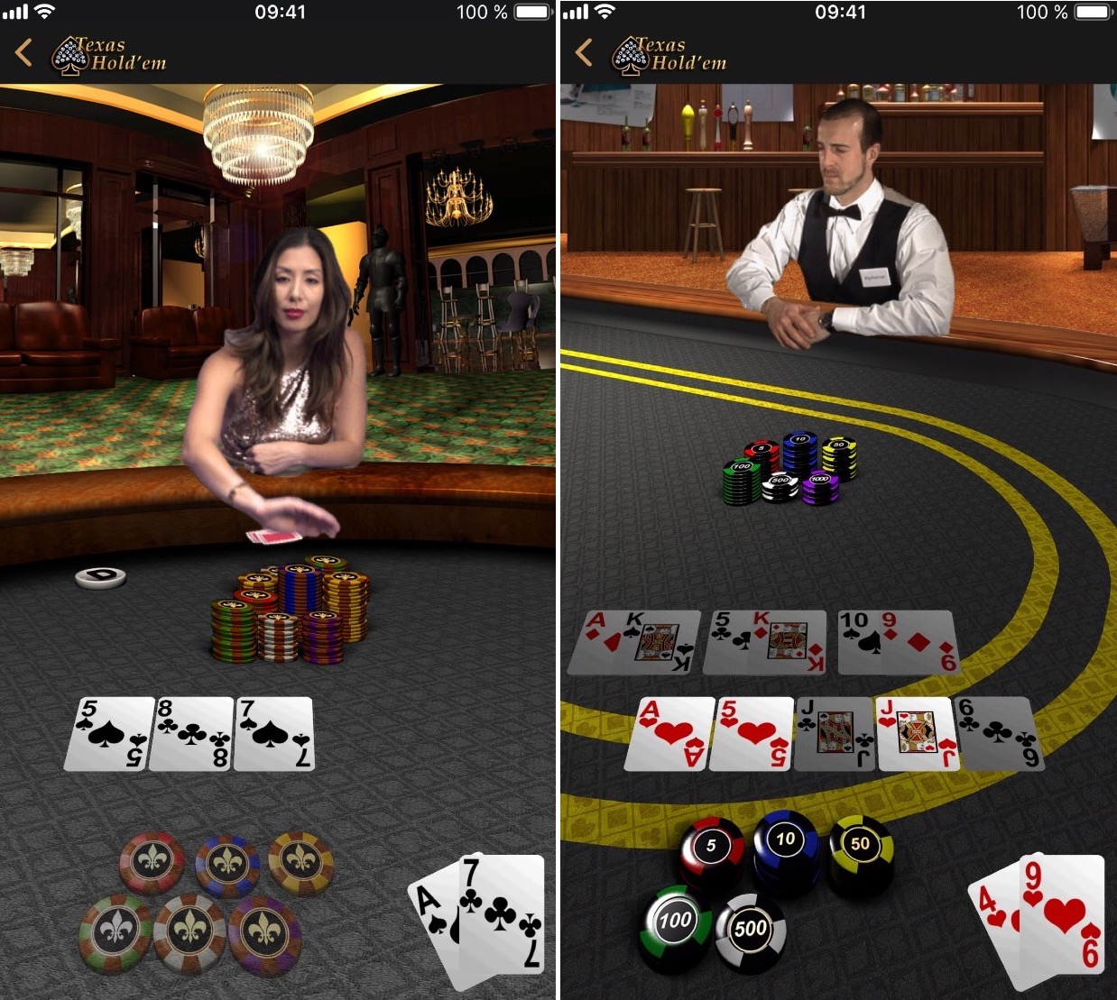 Historique: Apple met à jour son seul jeu iOS, Texas Hold'em (màj) 4