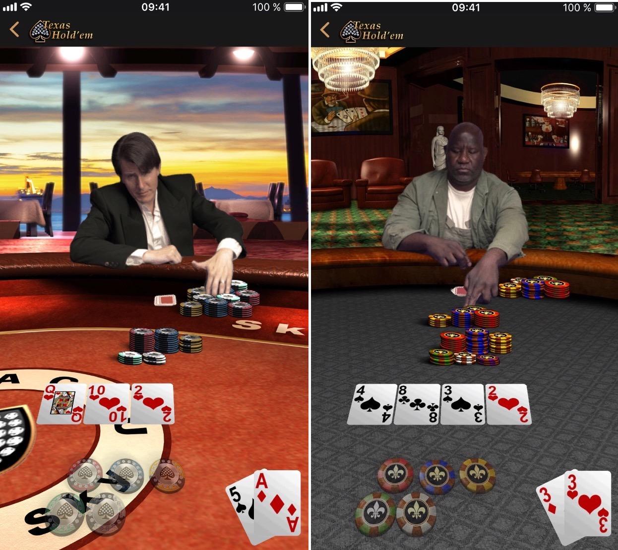 Historique: Apple met à jour son seul jeu iOS, Texas Hold'em (màj) 2