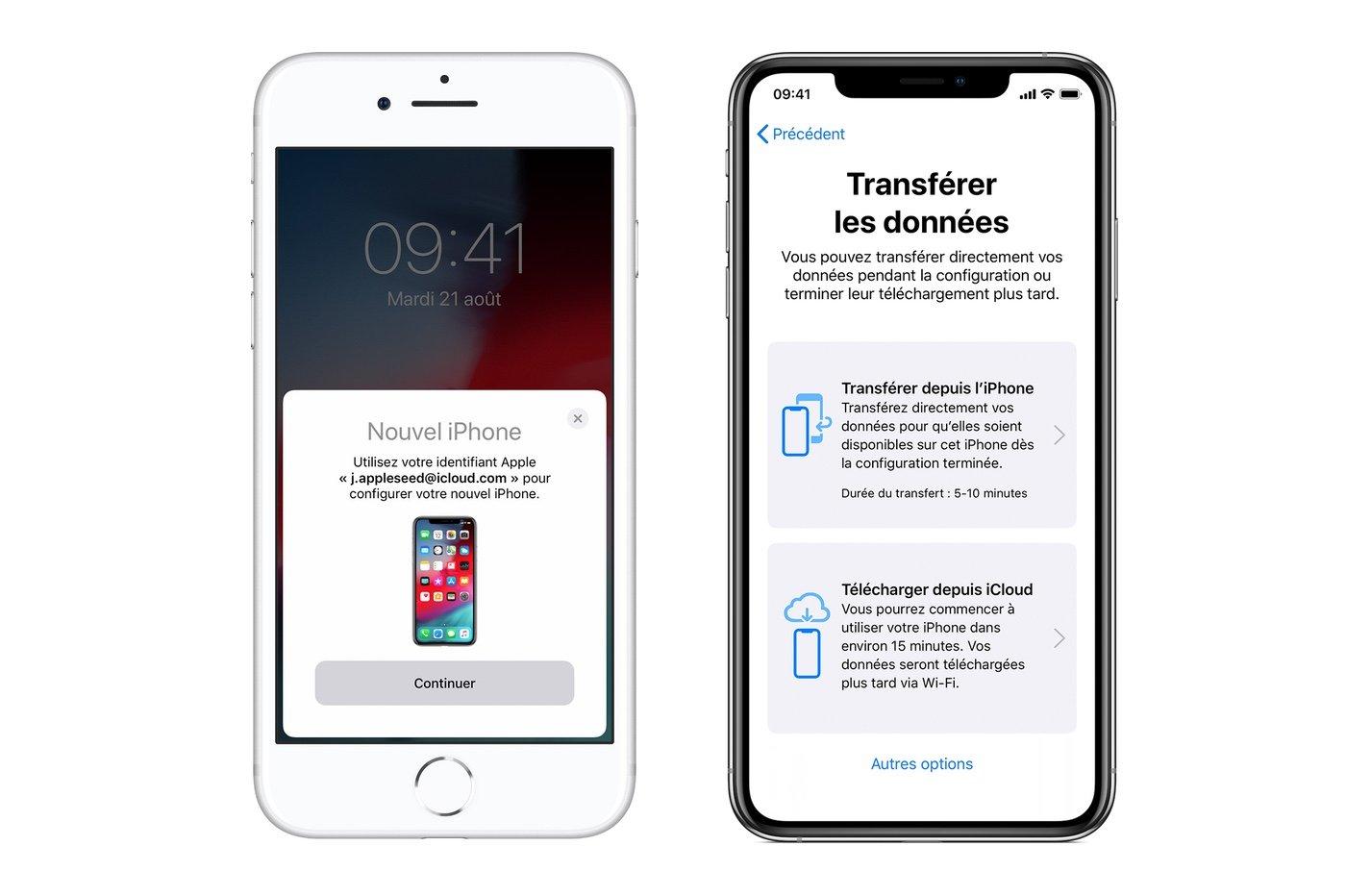 foto de iOS 12.4 : comment fonctionne le transfert de données entre deux ...