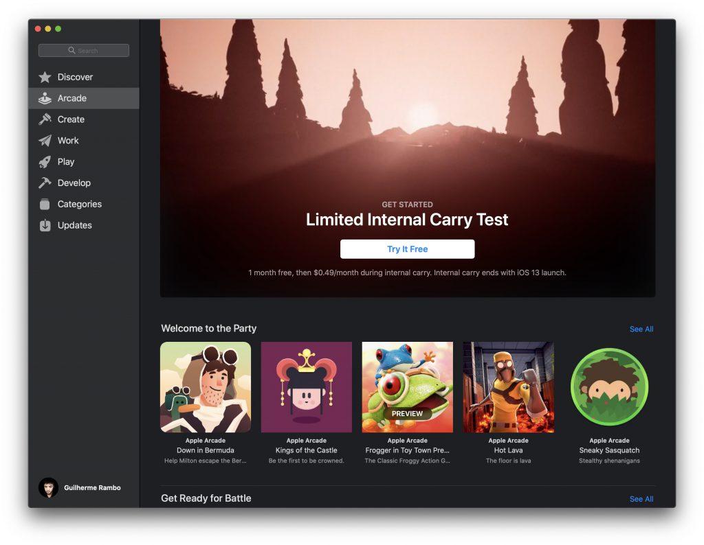 Apple Arcade sur Mac App Store