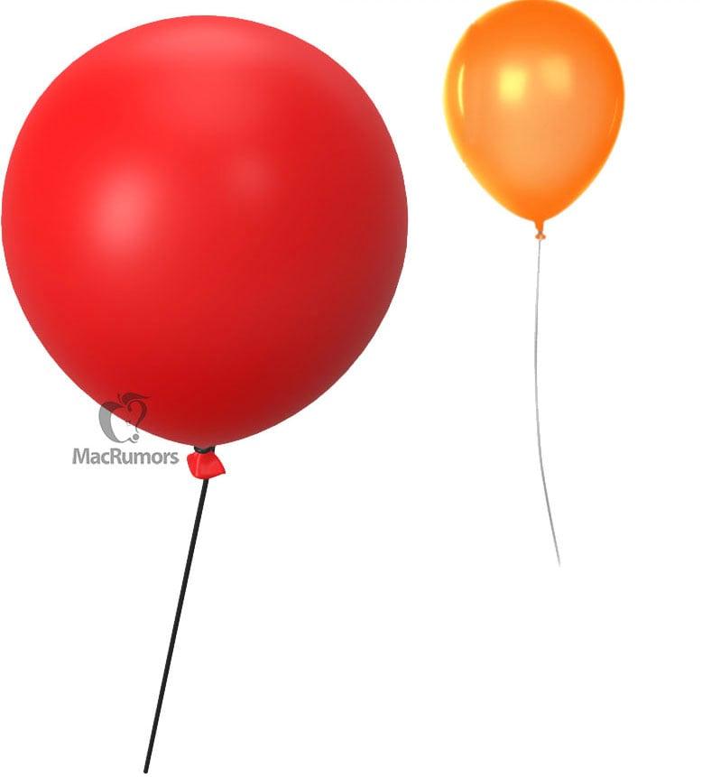 Ballons en réalité augmentée pour traqueur d'objets Apple