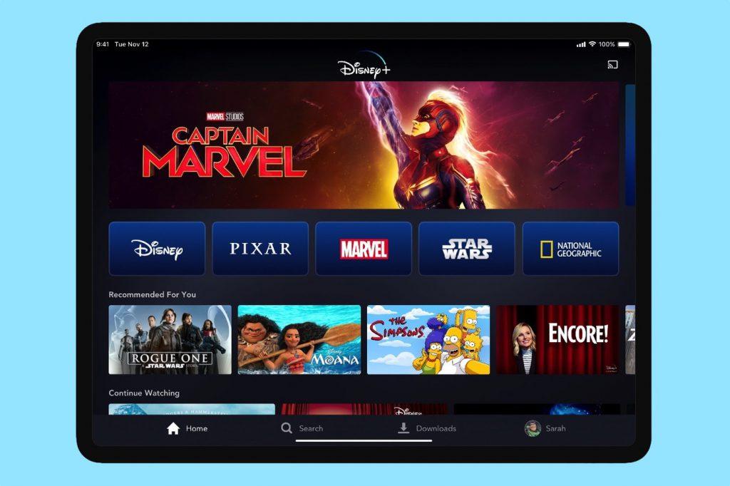 Disney+ iPad Pro