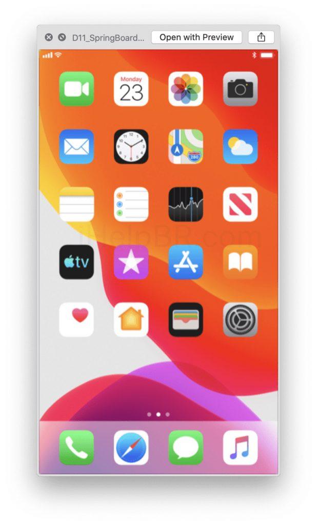 capture écran iOS 13