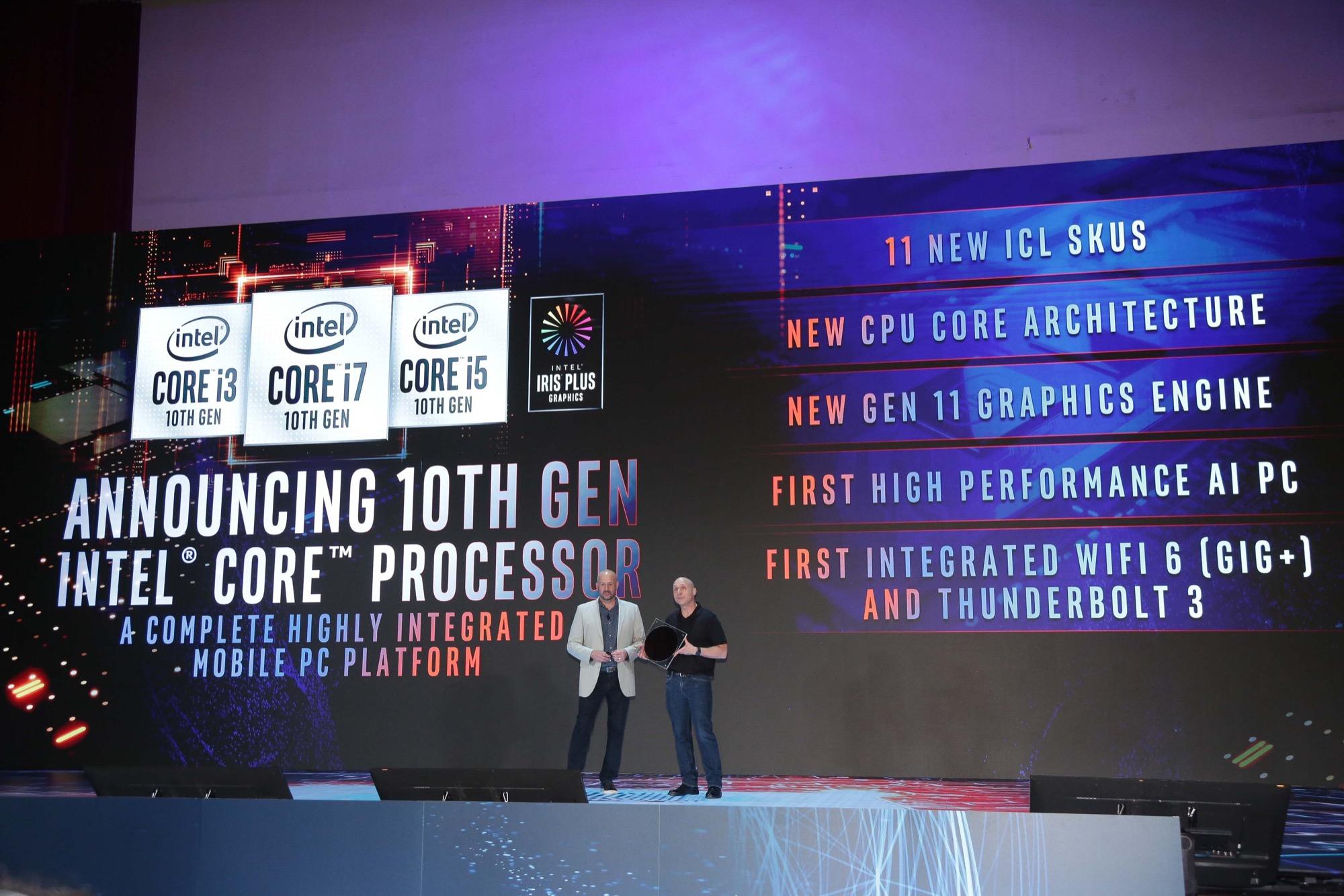 Intel présente nouveaux processeurs 10e génération