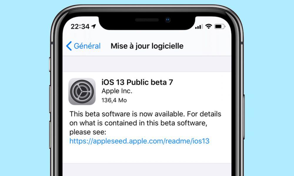 iOS 13 beta 7 publique