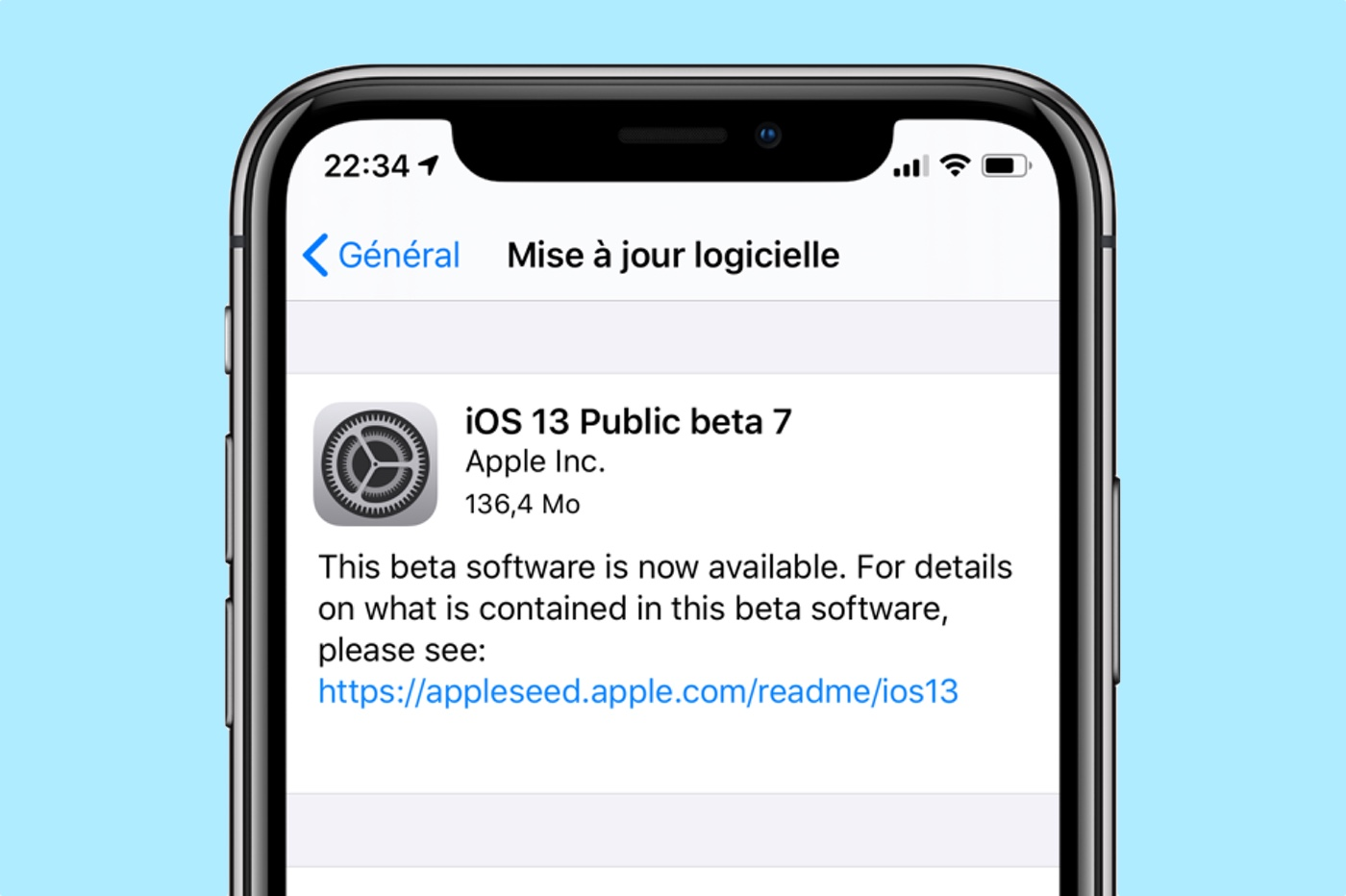 iOS 13 beta 7 publique