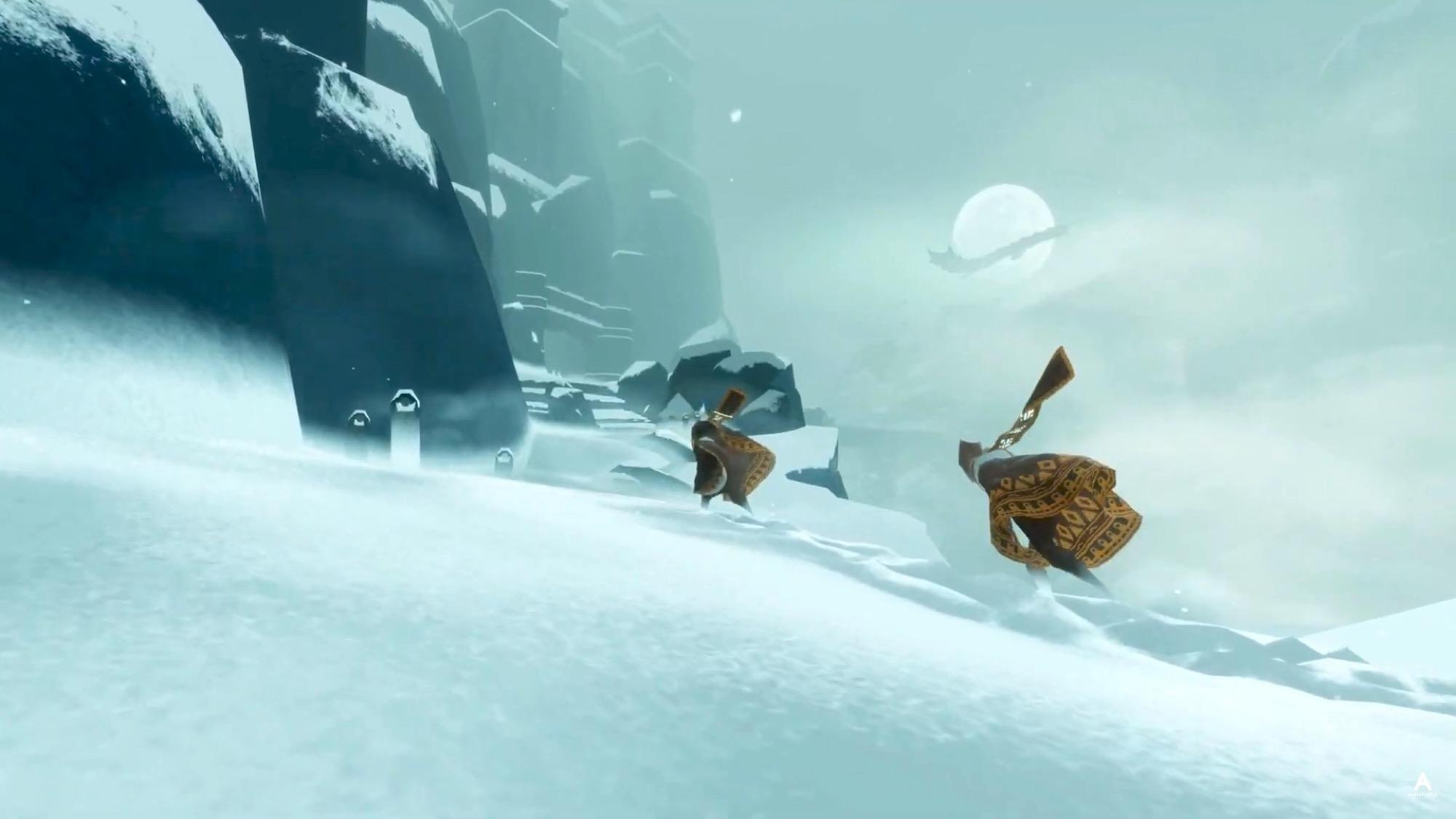 Capture écran jeu iOS Journey neige