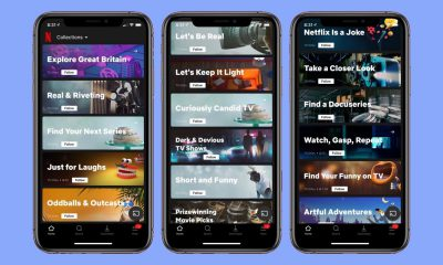 Netflix Collections sur app iPhone