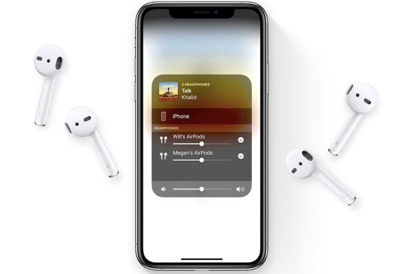 Partage son iOS 13