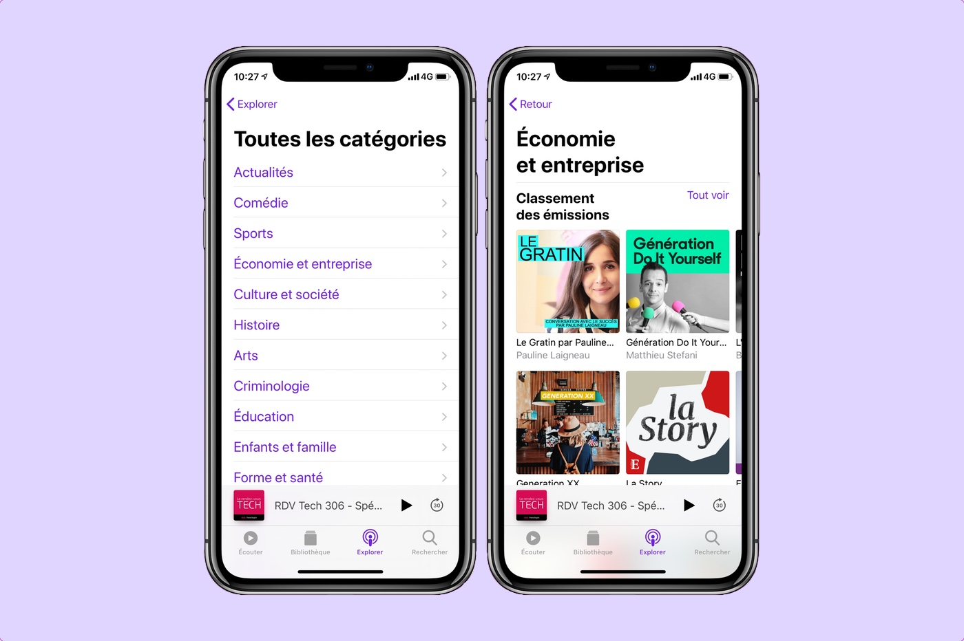 App Podcasts sur iPhone