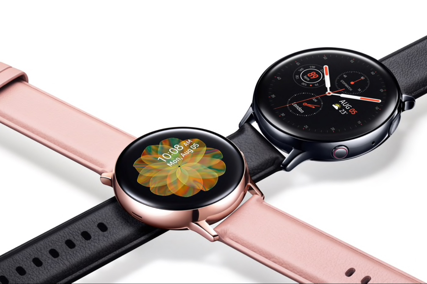 Samsung montre Galaxy Watch Active 2 rose et noire
