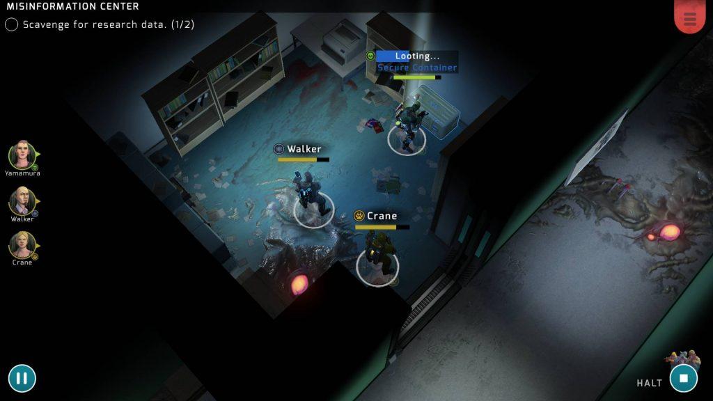 Xenowerk Tactics de Pixelbite capture écran jeu iPhone