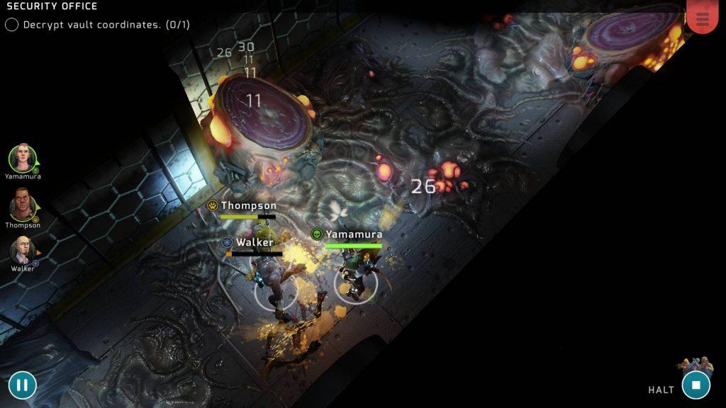 Xenowerk Tactics capture écran jeu iOS