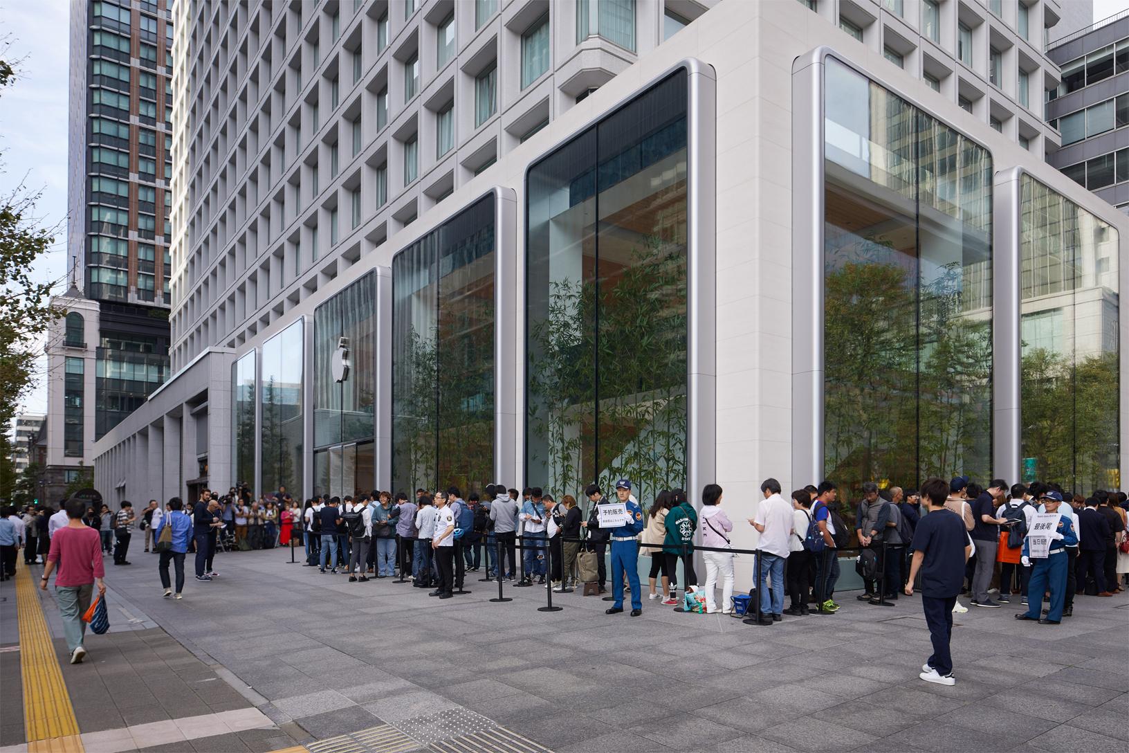 queue devant Apple Store à Tokyo pour l'iPhone 11/Pro