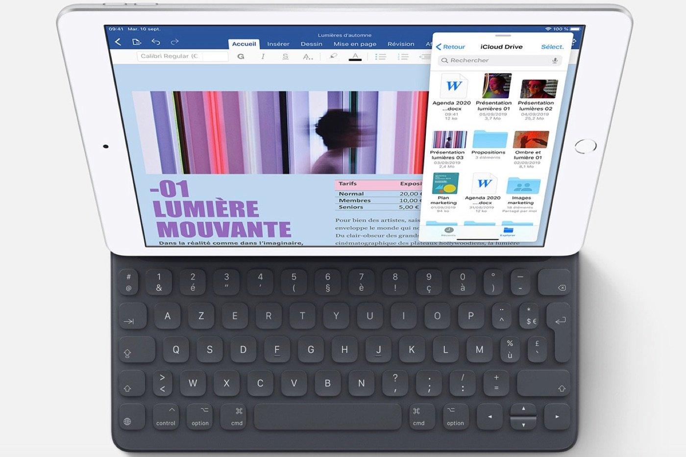 Apple iPad 10,2 pouces et clavier