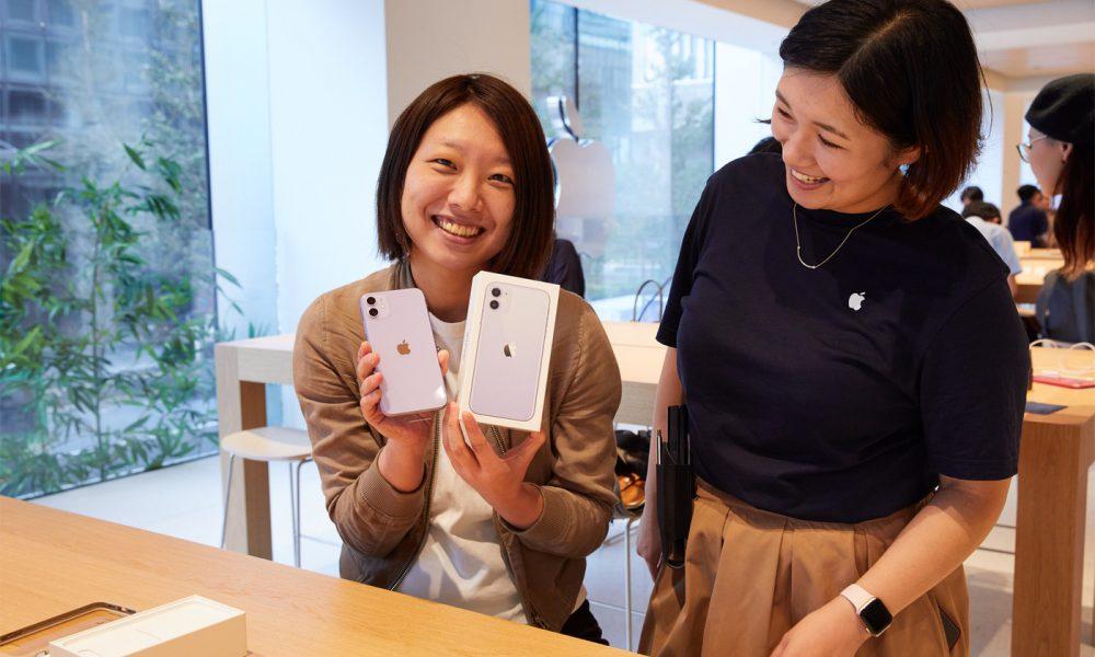 iPhone 11 en Apple Store