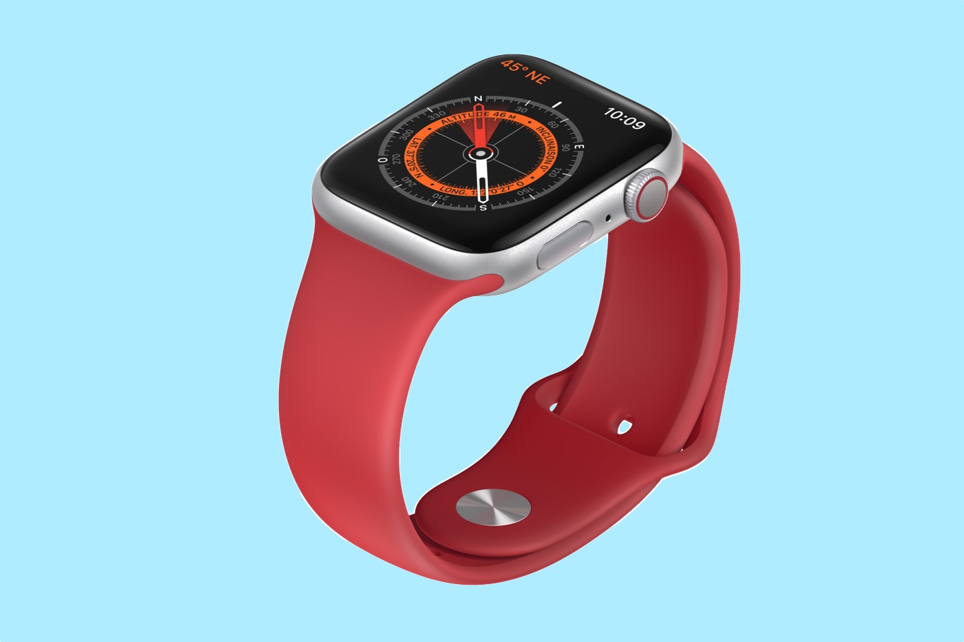 Boussole de l'Apple Watch 5