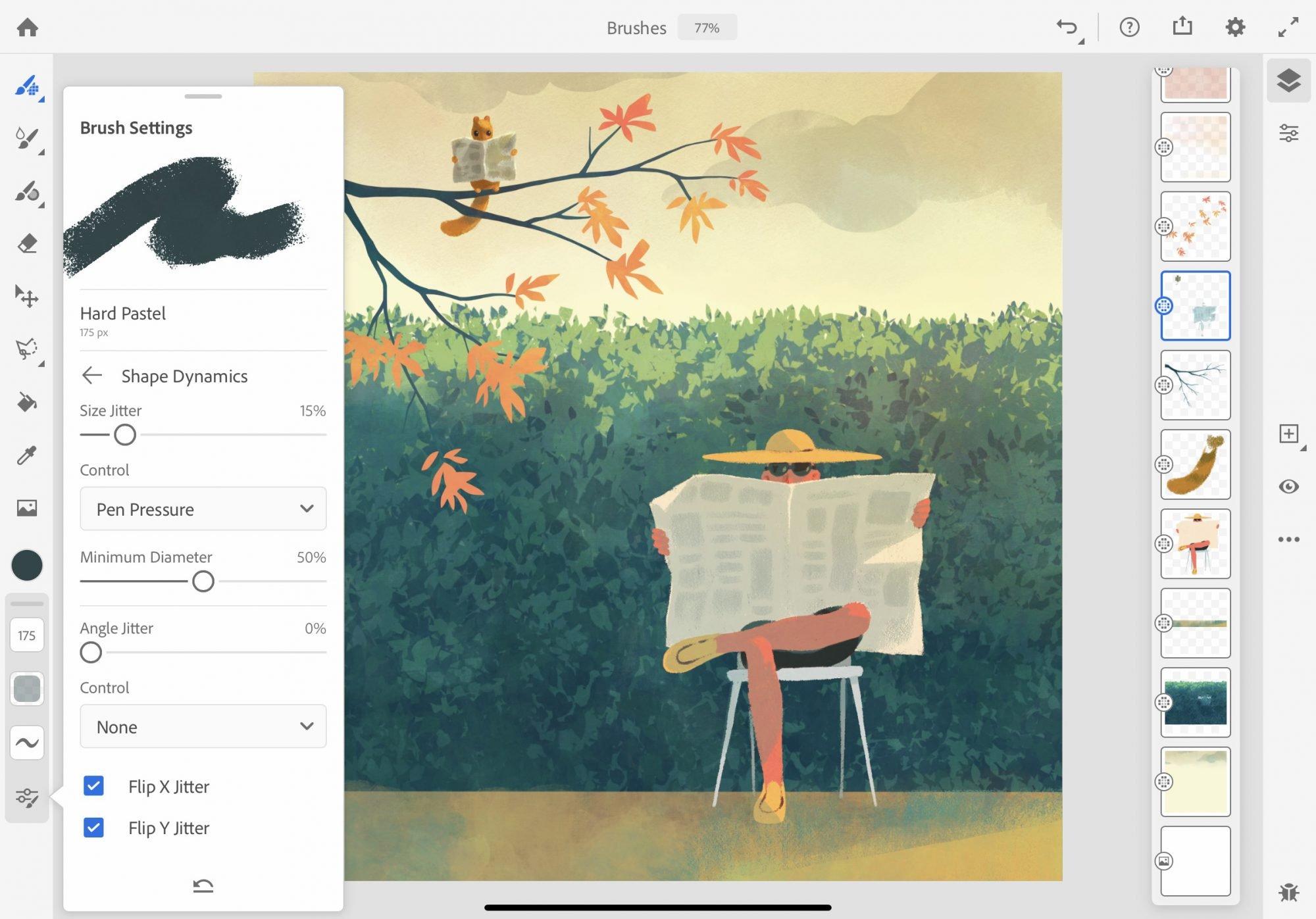 App Adobe Fresco sur iPad