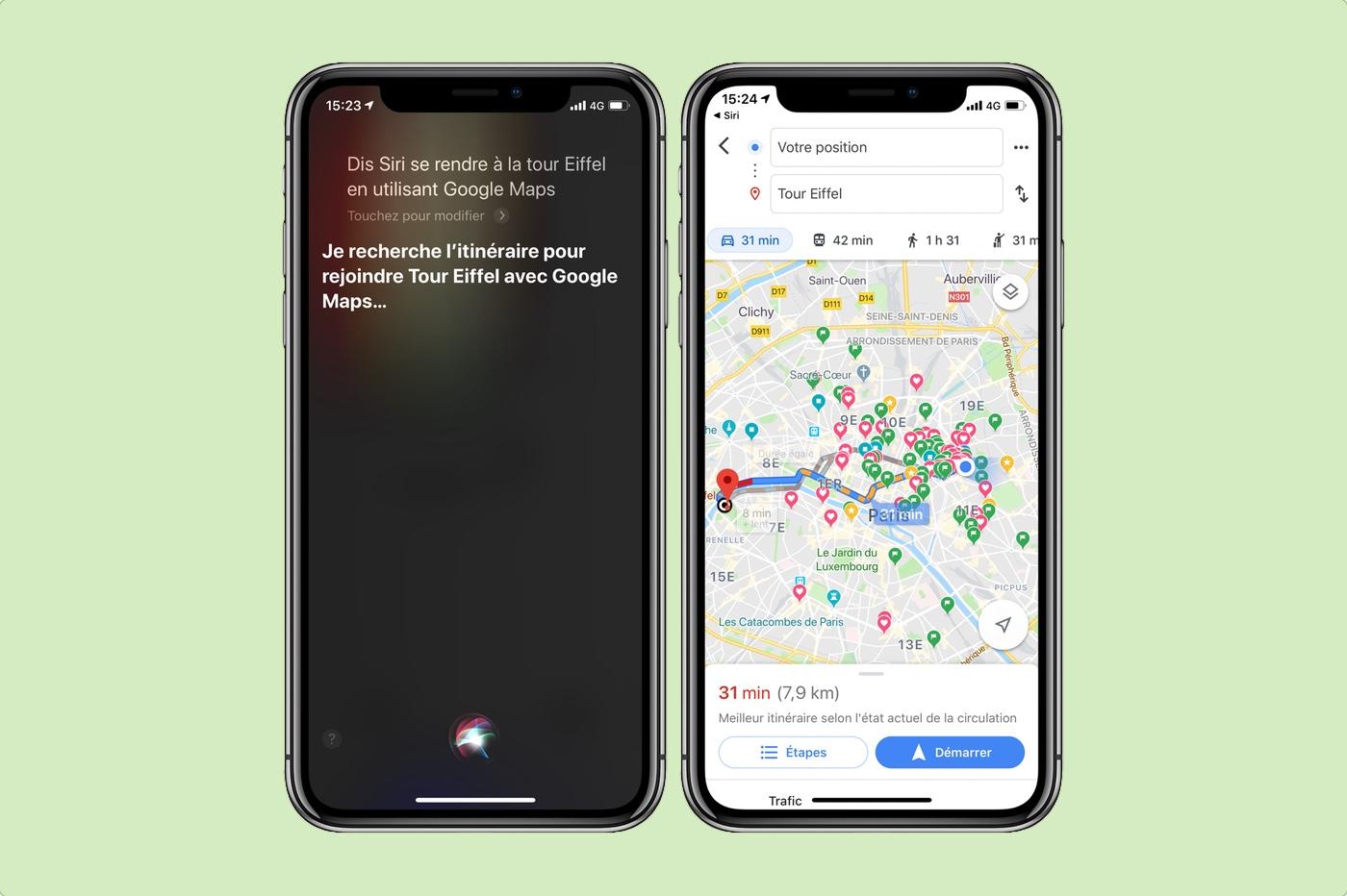 Utiliser Siri avec Google Maps sous iOS 13