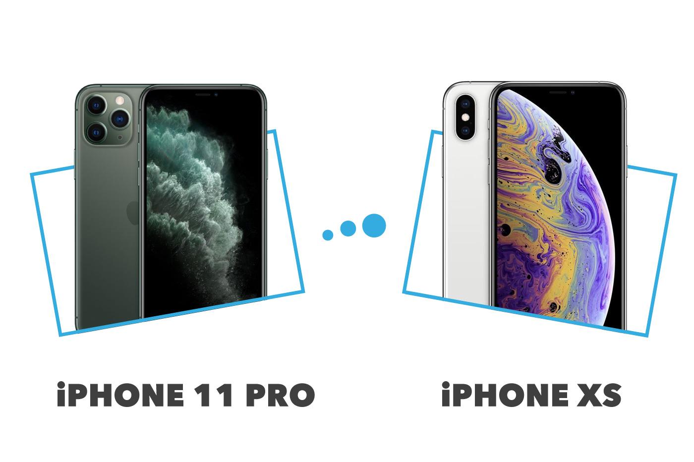 comparatif iPhone XS versus iPhone 11 Pro