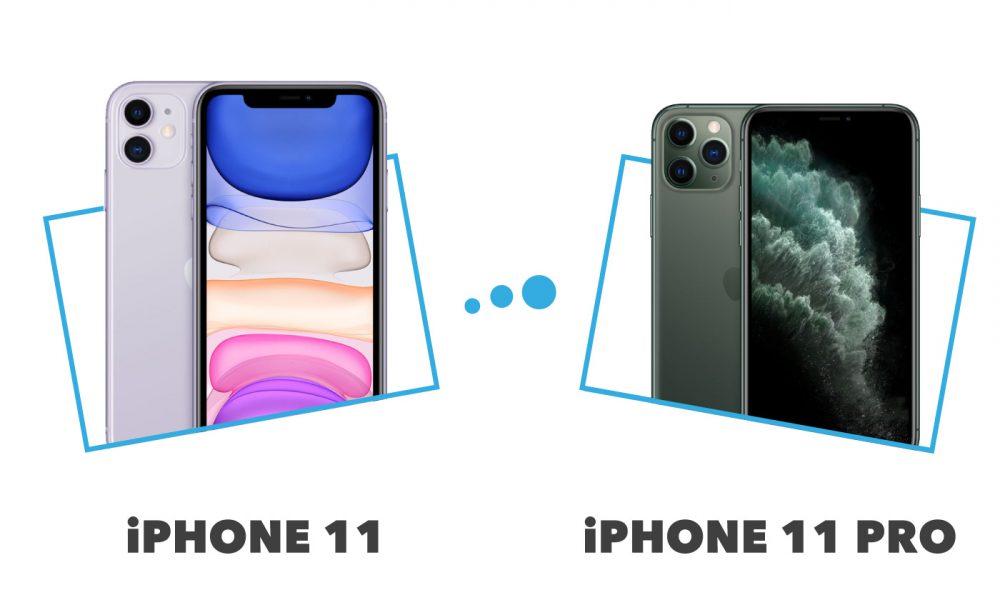comparatif iPhone 11 versus iPhone 11 Pro