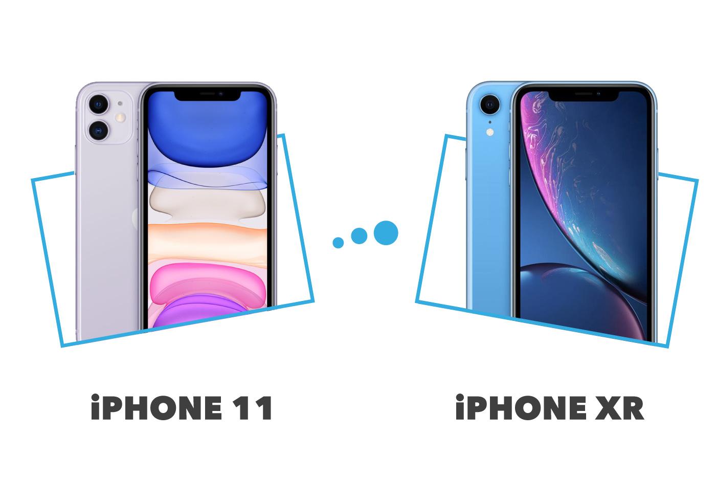 comparatif iPhone 11 versus iPhone XR