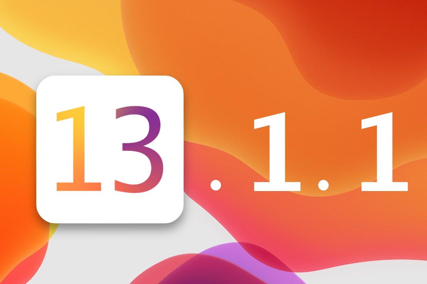iOS et iPadOS 13.1.1