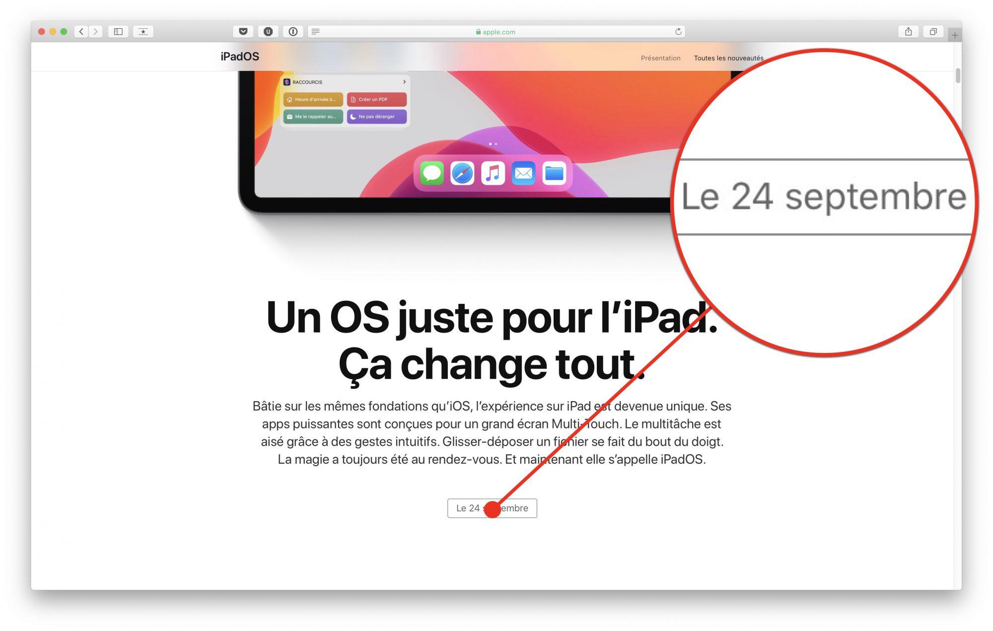 iPadOS et iOS 13.1