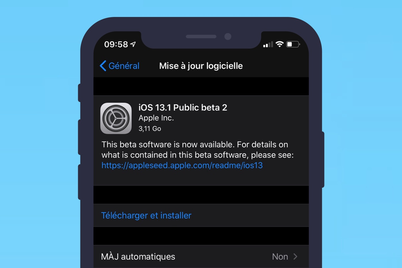 iOS 13.1 bêta 2 est disponible