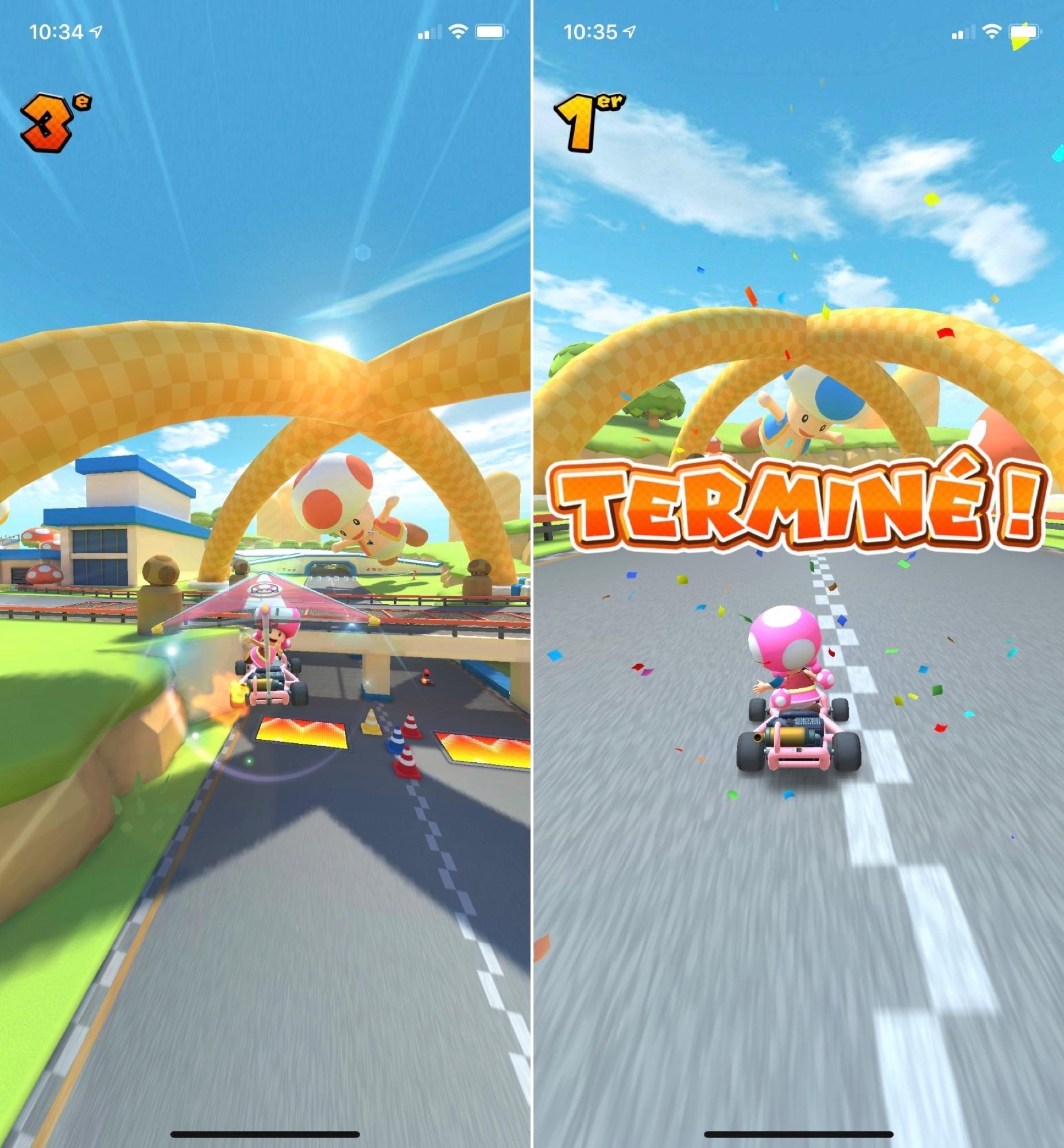 Jeu iPhone et iPad Mario Kart Tour