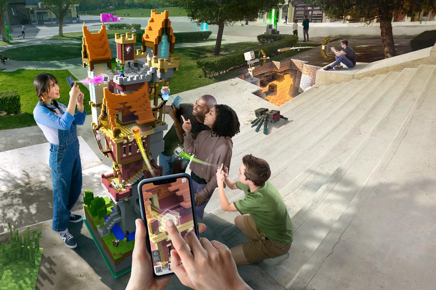 jeu Minecraft Earth sur iPhone