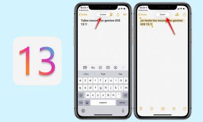 Nouveaux gestes iOS 13