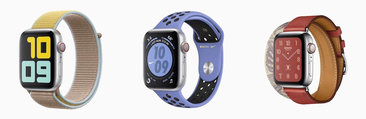 Modèles Apple Watch Series 5