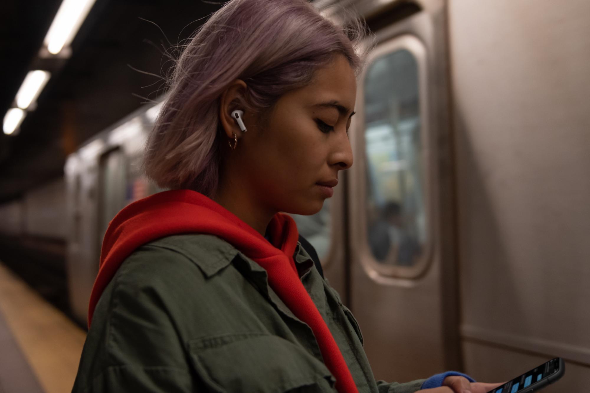 Apple AirPods Pro portés