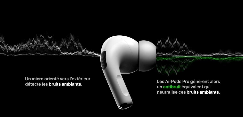 Réduction de bruit Apple AirPods Pro