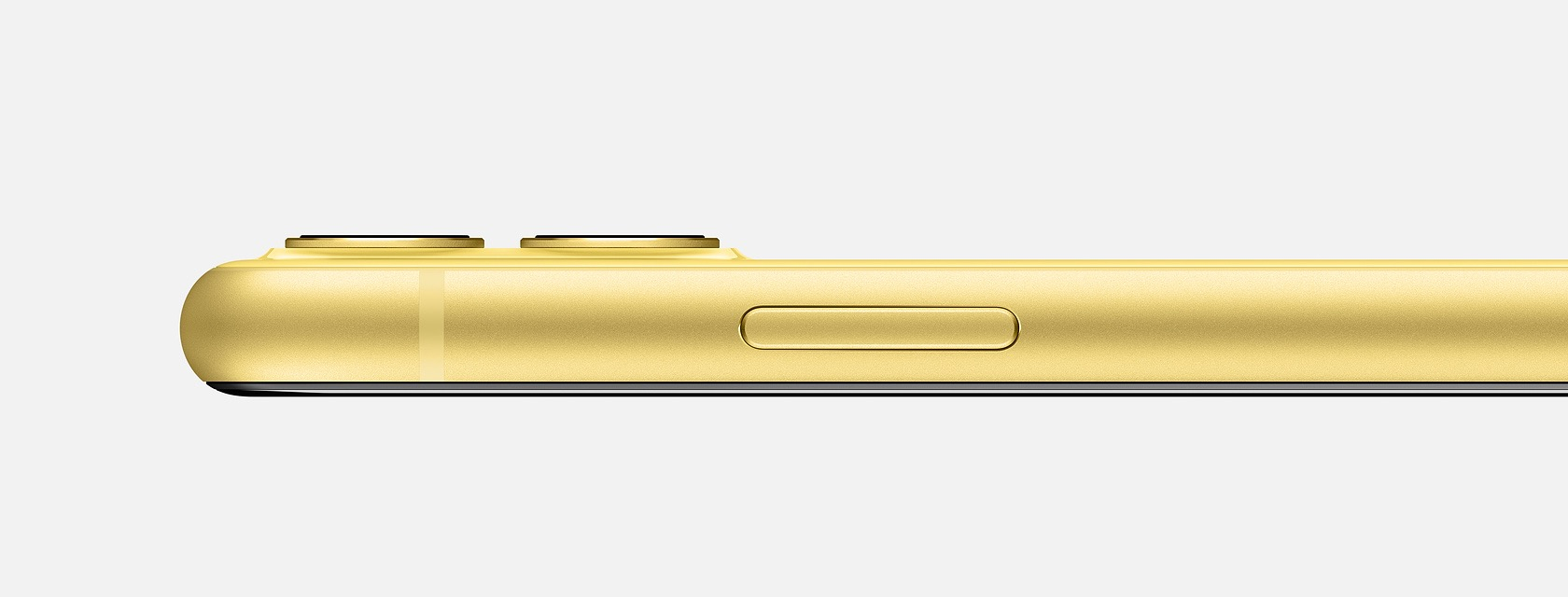 Profil de l'iPhone 11 jaune