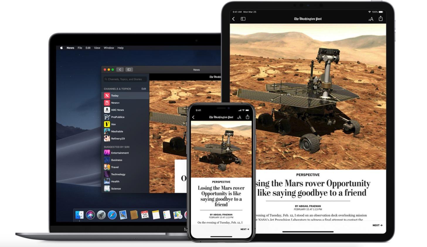 Apple News+ iPhone, iPad, Mac