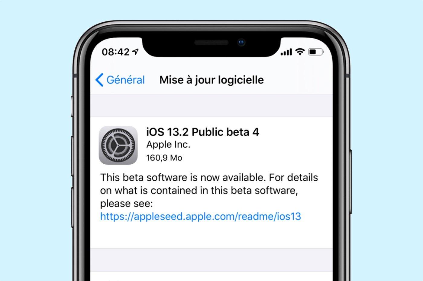 Beta 4 iOS 13.2
