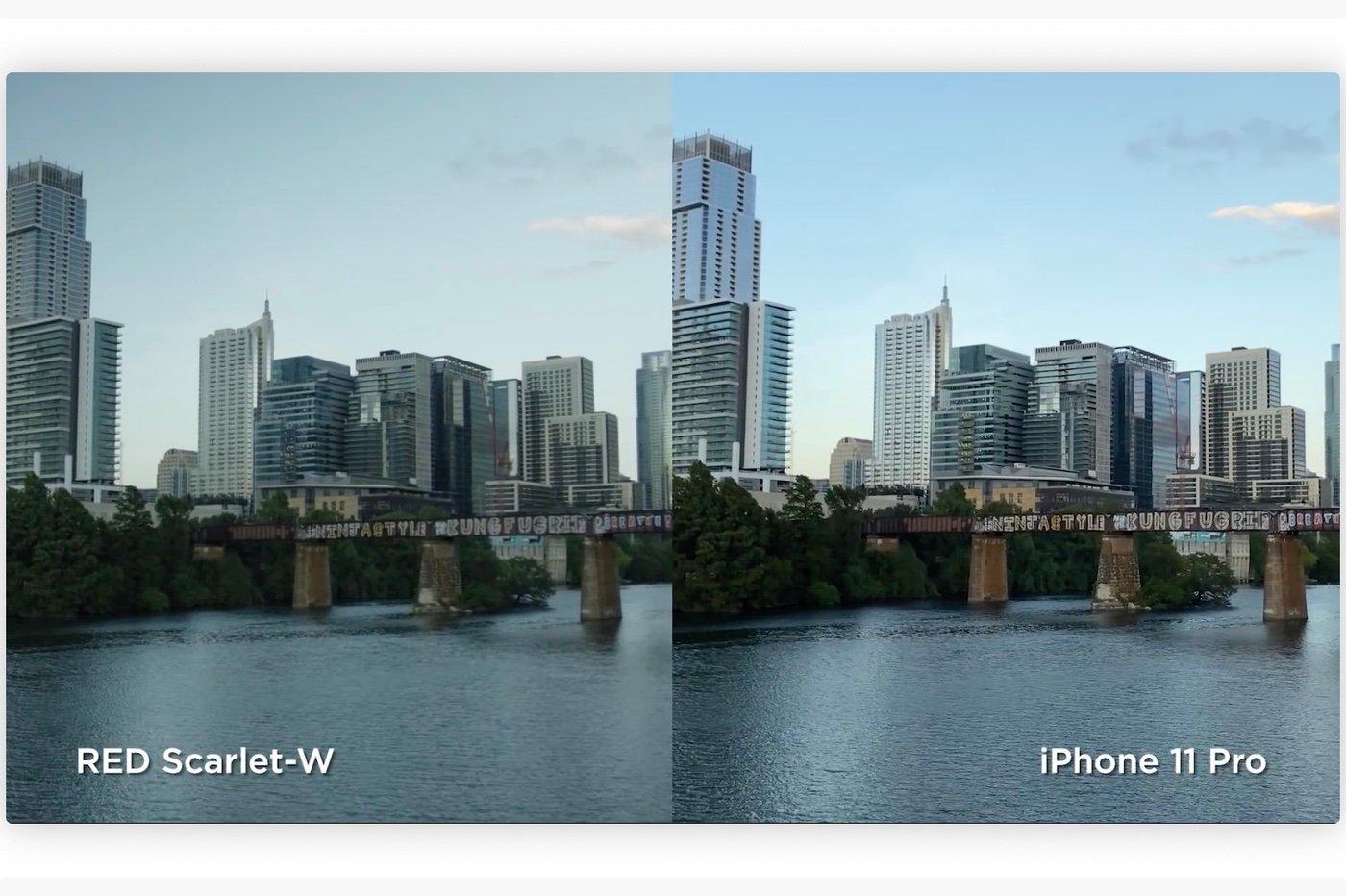 Vidéo : l'iPhone 11 Pro comparé à une caméra RED à 10k dollars 1