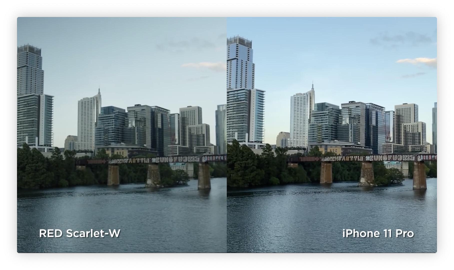 Vidéo: l'iPhone 11 Pro comparé à une caméra RED à 10k dollars 4
