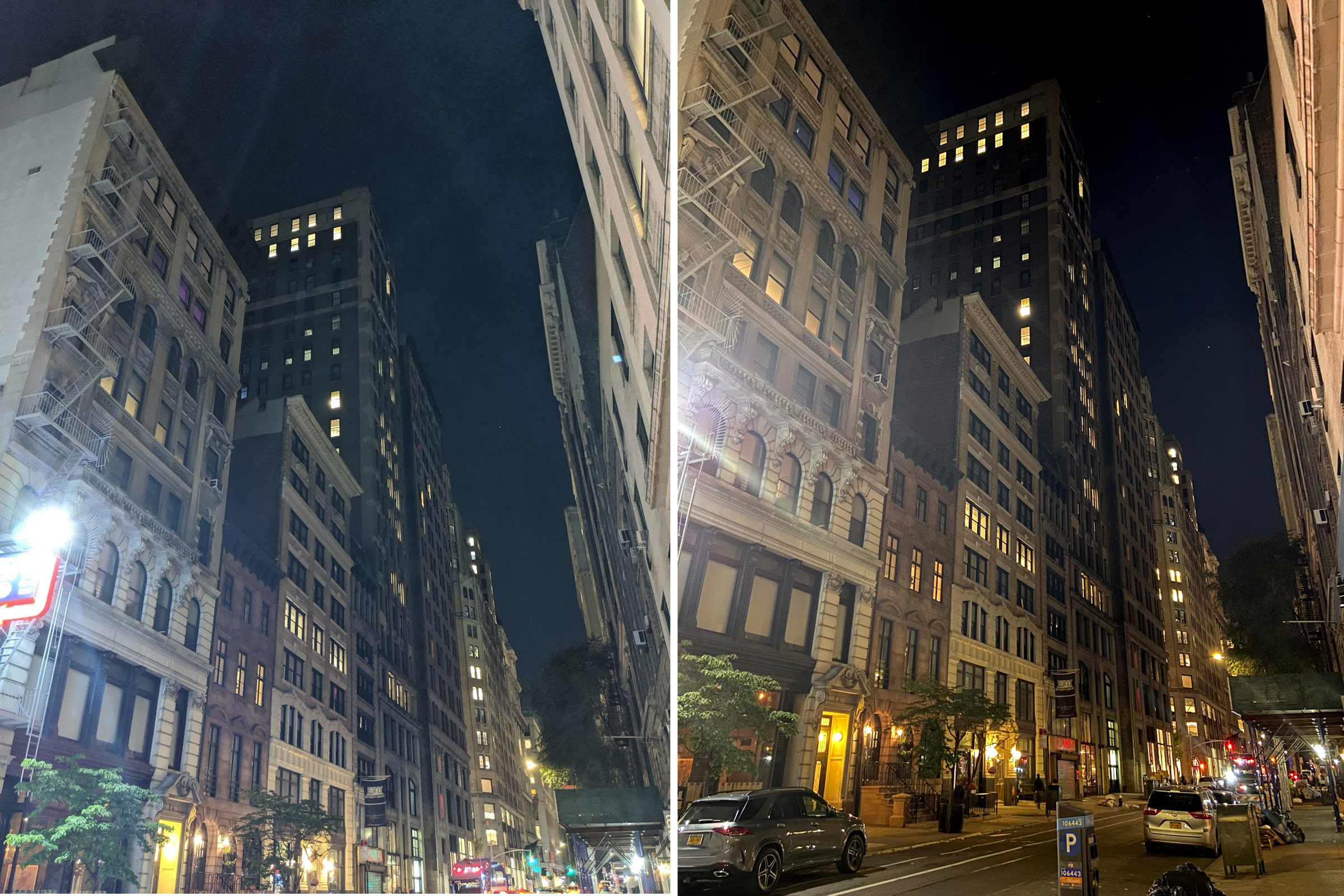 Comparatif photo de nuit en ville : Google Pixel 4 vs iPhone 11